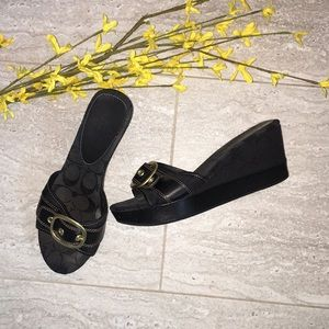 Coach 'Gretta' Signature Wedge Sandals